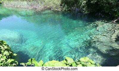 Summer azure transparent lake - Summer azure limpid...