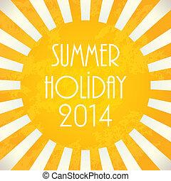 Summer background - 2014, vector illustration, EPS10