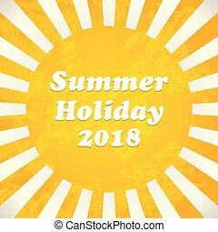 Summer background - 2018, vector illustration, EPS10