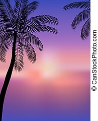 Summer background. Beach Party Flyer. Vector Design