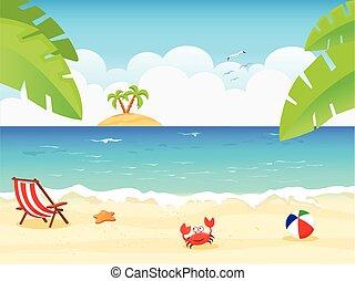 Summer Background - vector illustration of summer...