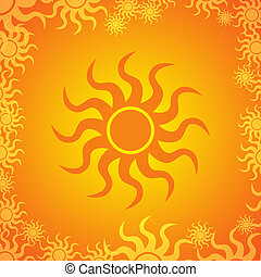 SUMMER BACKGROUND - Summer freshness background design