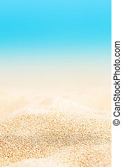 Summer Background - Sunny Beach with golden sand