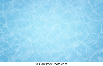 Summer background. Texture of water surface. Pool water. Overhead view. Vector illustration nature background.