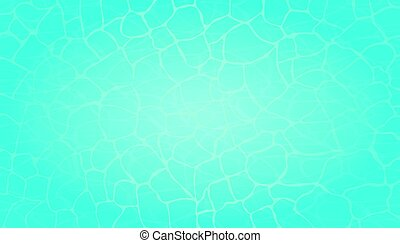 Top view of water surface. Vector Illustration.