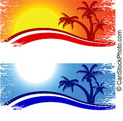 Summer background. - Tropical abstract backdrop. Vector...