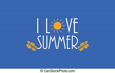 summer background, vector illustration, Eps10