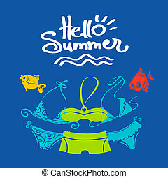 Summer background. Vector illustration