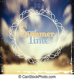 summer background with vignette
