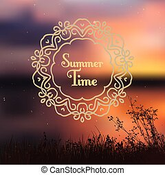 summer background with vignette