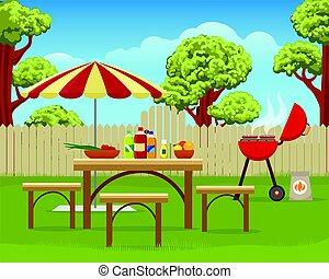 Summer backyard fun bbq