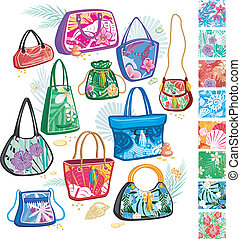 Summer bags with patterns