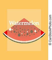 summer banner design with watermelon
