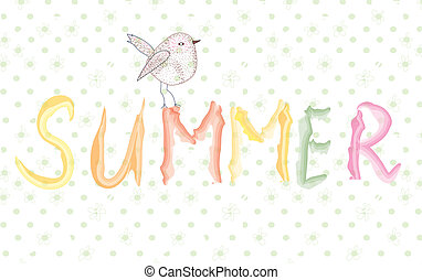 Summer banner with bird artistic design