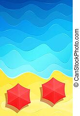 Summer beach abstract background