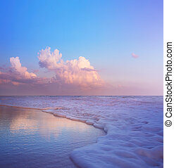 Summer Beach Background - Beautiful Sand And Sea And Sunlight