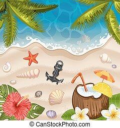 Summer beach background