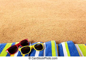 Summer beach border background