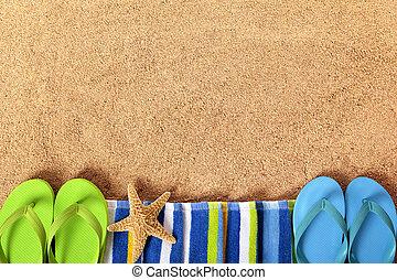 Summer beach border
