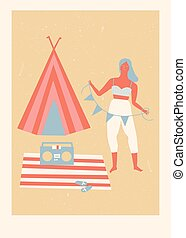 Summer beach camp poster