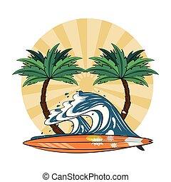 summer beach cartoons