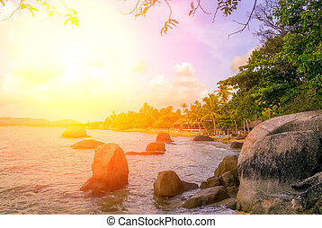 Colorful Sky Sunset or Sunrise background.