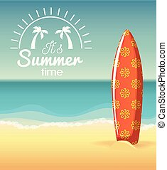 Summer beach design