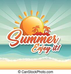 Summer beach design