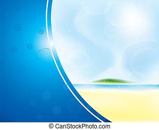 summer beach frame - summer frame as abstract beach with...