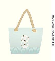 Summer beach handbag