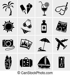 Summer & beach icons