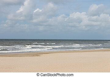 Summer beach in the Netherlands