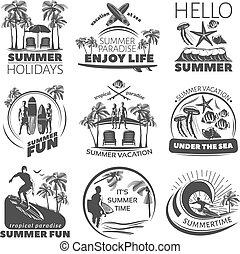 Summer Beach Label Set