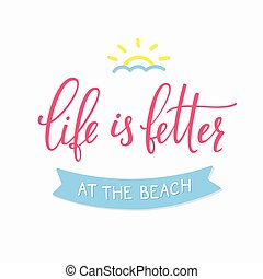 Summer beach lettering typography