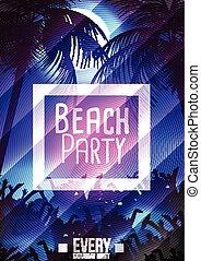 Summer Beach Party Flyer Template -