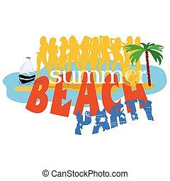 summer beach party vector illustration