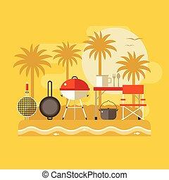 Summer Beach Picnic Banner