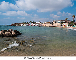 Summer beach resort Cessarea Israel