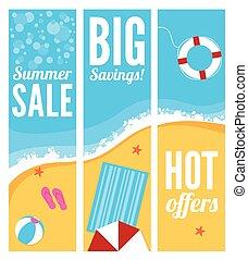 Summer Beach Sale Banners