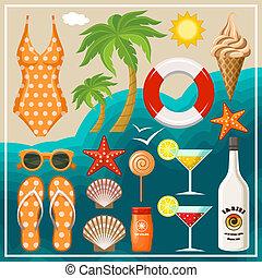 Summer beach set.