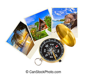 Summer beach shots and compass - nature and travel (my...