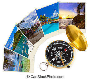 Summer beach shots and compass