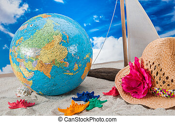 Summer beach stuff - Holiday concept