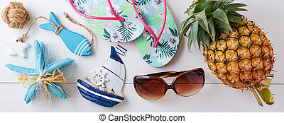 Summer beach vacation accessories