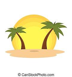 summer beach with palms