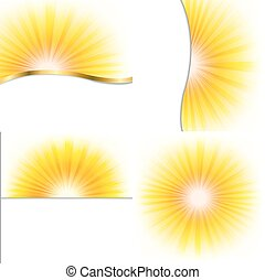 Summer Beams Set - 4 Summer Beams Posters, With Gradient...