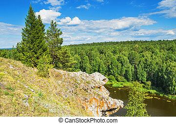 Summer Beautiful landscape. The Chusovaya River - Beautiful ...