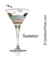 Summer beauty in a glass of cocktail