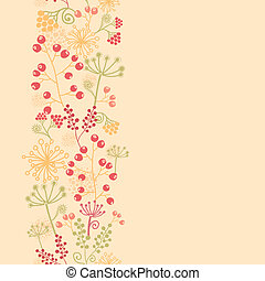 Summer berries vertical seamless pattern background border -...