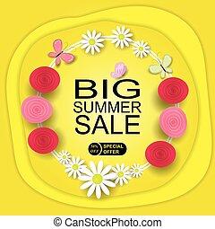 Summer Big Sale Banner Template Background